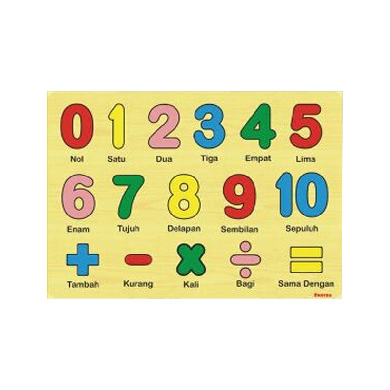 Omochatoys Angka Simbol Mainan Blok & Puzzle