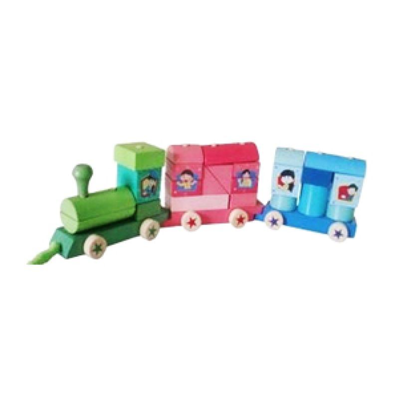 Omochatoys Kereta Big Bum-Bum Mainan Blok & Puzzle