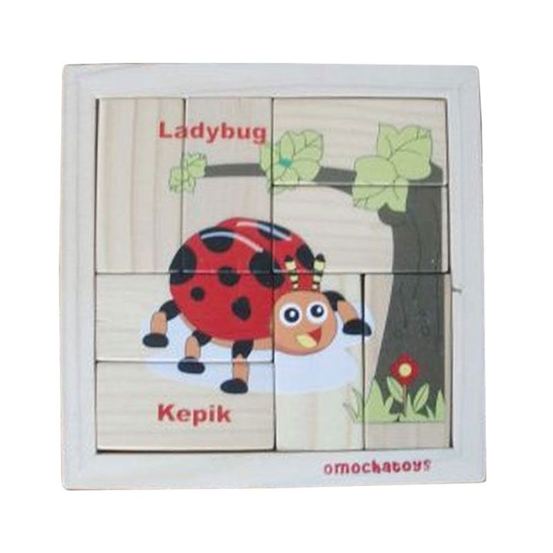 Omochatoys LED-UV Kepik Mainan Blok & Puzzle