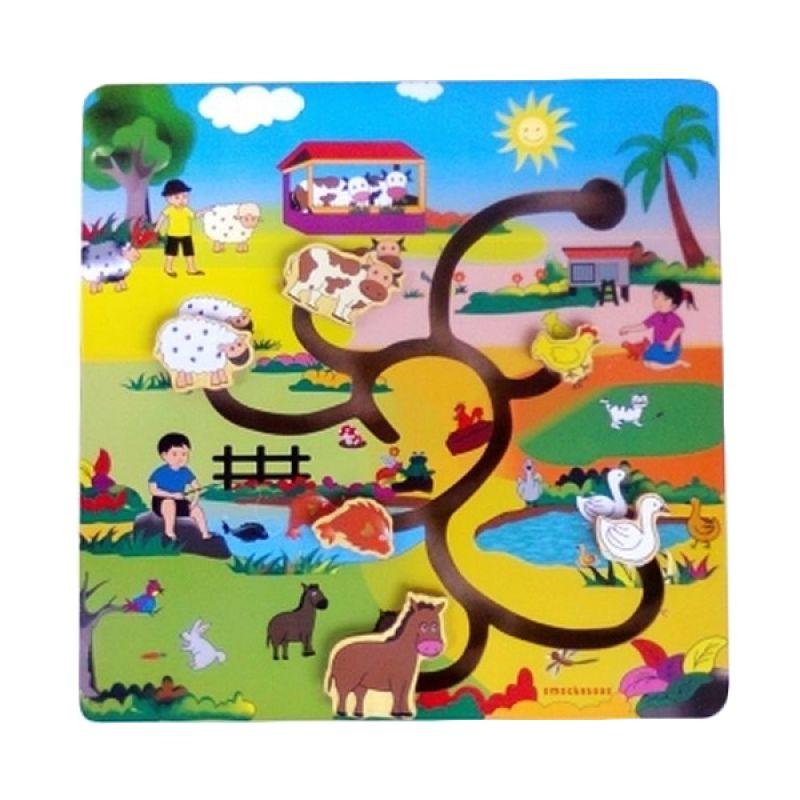 Omochatoys Maze Hewan Mainan Blok & Puzzle