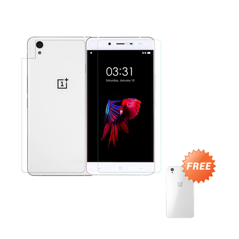 ONE-X Tempered Glass Screen Protector for Oneplus X - [Front and Back] + Free Aircase