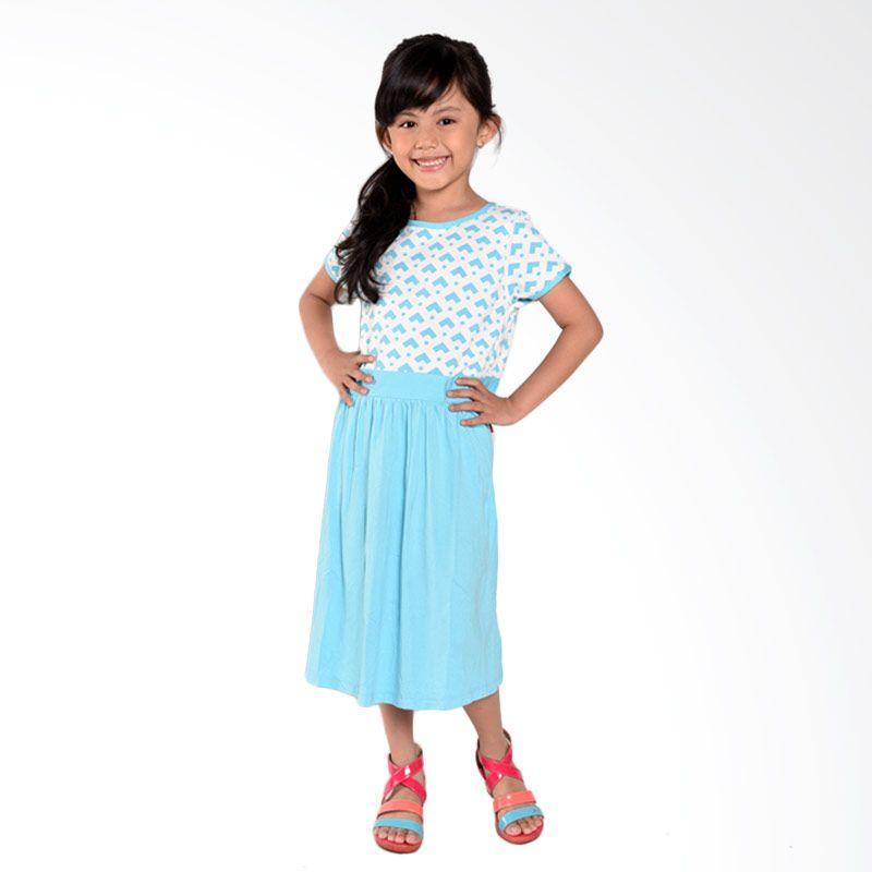 ONEPLUS1+ Heart Blue Dress Anak
