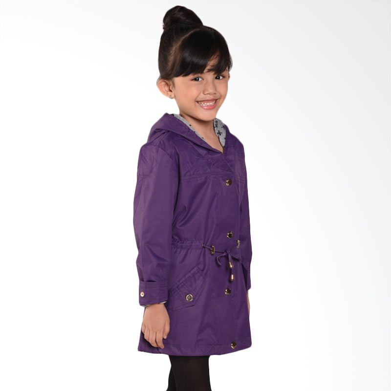 ONEPLUS1 Bow Combi Wind Purple Jaket Anak