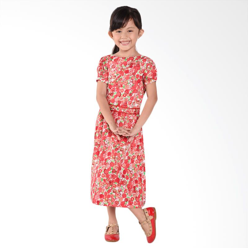 ONEPLUS1 Cotton Red Dress Anak Perempuan