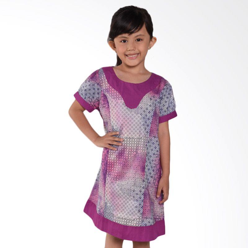 ONEPLUS1 Heritage Cotton Shirt Eclusive ONE PLUS Purple Dress Anak Perempuan