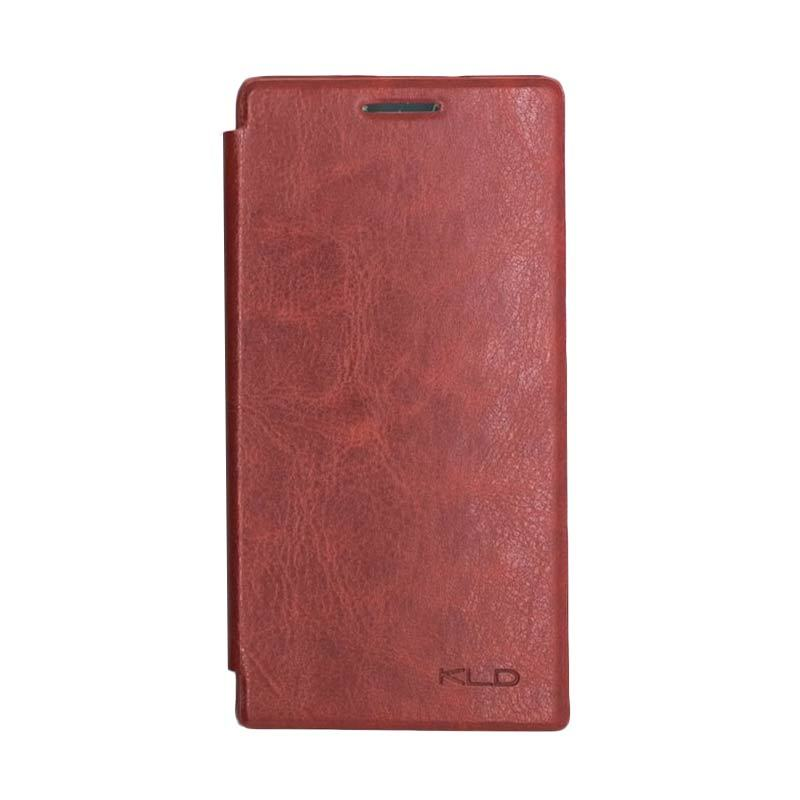 Kalaideng Enland Series Leather Cokelat Casing for Huawei Ascend P6