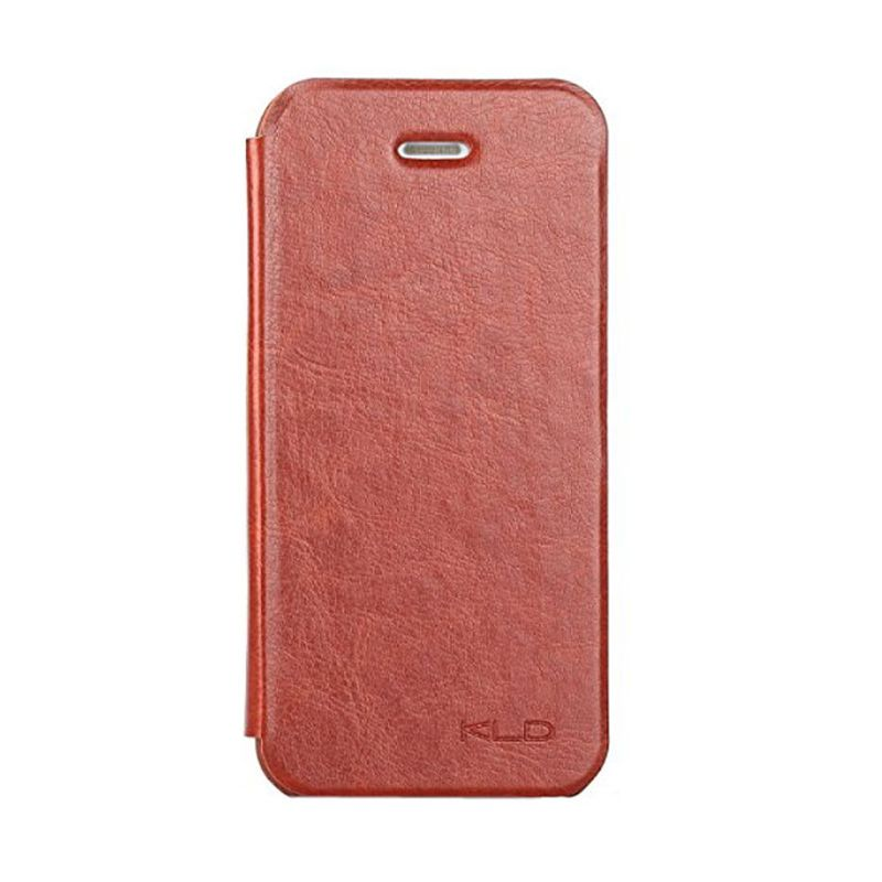 Kalaideng Enland Series Leather Coklat Flip Cover Casing for iPhone 5 or 5S or SE