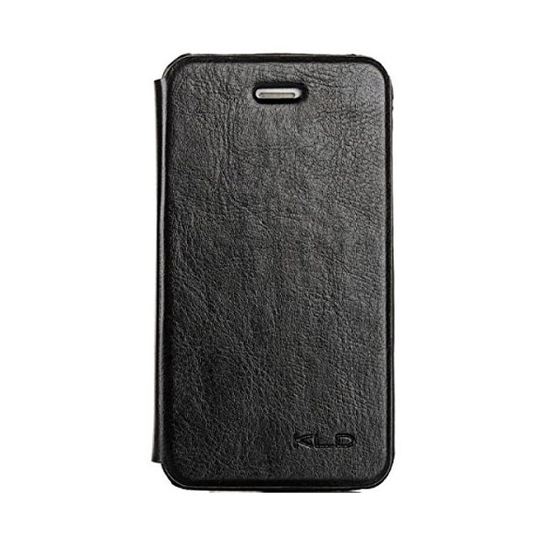 Kalaideng Enland Series Leather Hitam Flip Cover Casing for iPhone 4 or 4S