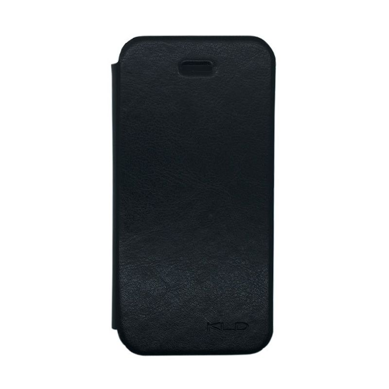 Kalaideng Enland Series Leather Hitam Flip Cover Casing for iPhone 5 or 5S or SE