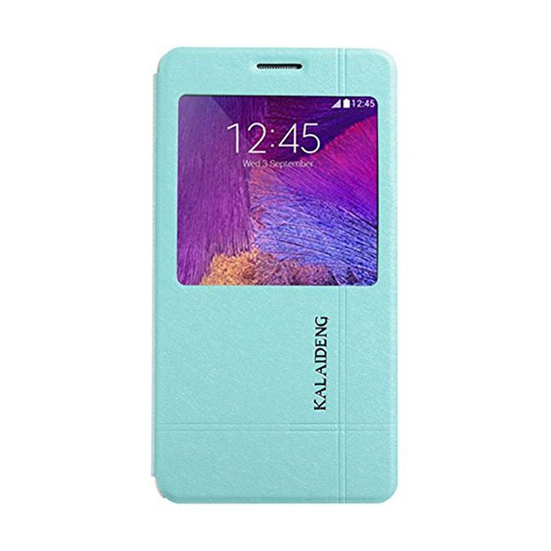 Kalaideng Iceland II Series Leather Biru Flip Cover Casing for Samsung Galaxy Note 4