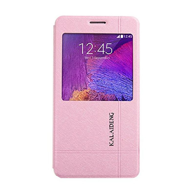 Kalaideng Iceland II Series Leather Pink Flip Cover Casing for Samsung Galaxy Note 4