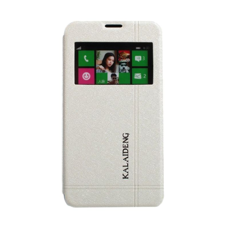 Kalaideng Iceland II Series Leather Putih Casing for Nokia Lumia 630
