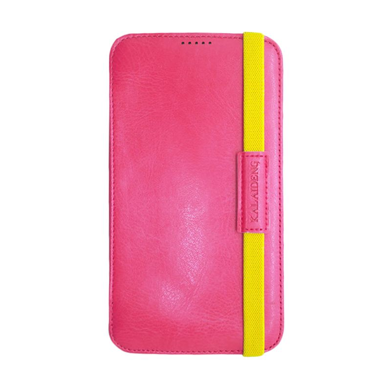 Kalaideng My Love Series Leather Case Pink Casing for Samsung Galaxy Mega 6.3 i9200