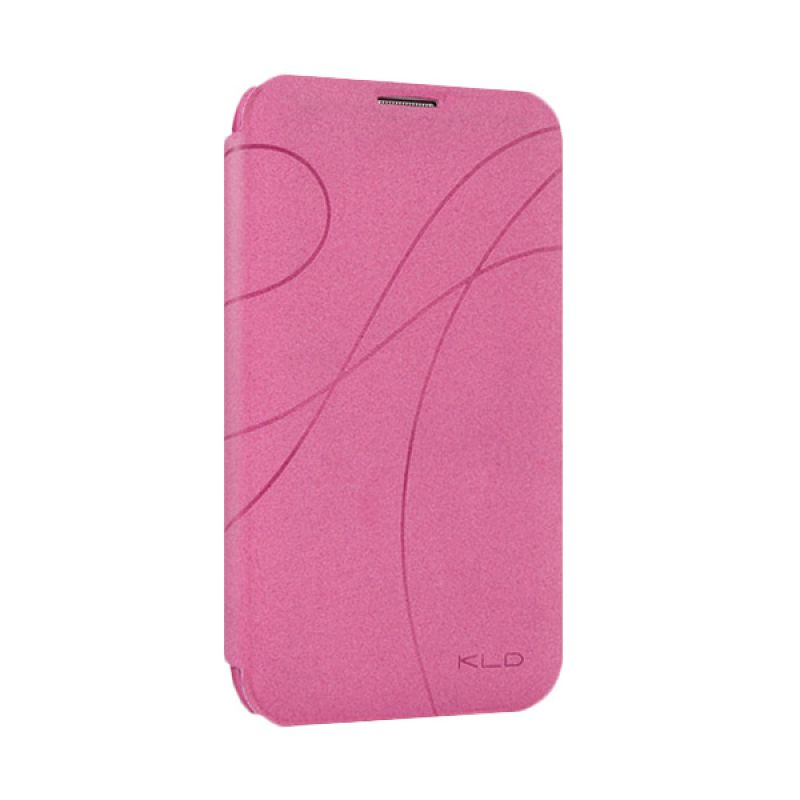 Kalaideng Oscar 1 Leather Flip Cover Pink Casing for Samsung Galaxy Note 2