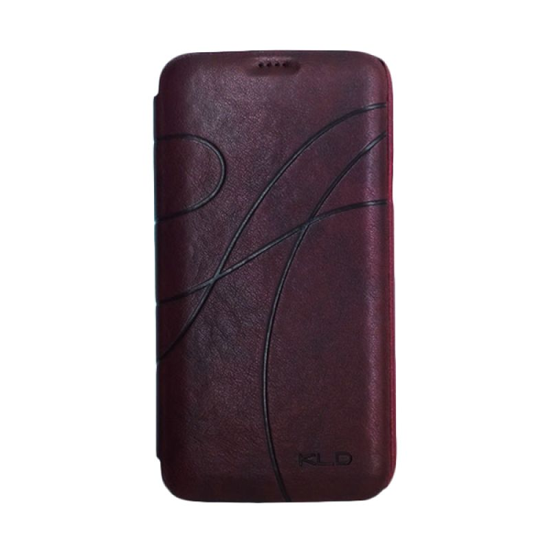 Kalaideng Oscar II Series Leather Merah Marun Casing for Galaxy S5