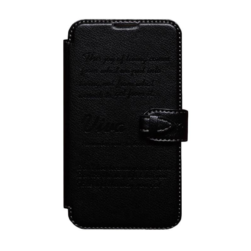 Kalaideng Viva Leather Flip Cover Hitam Casing for Samsung Galaxy Note 2