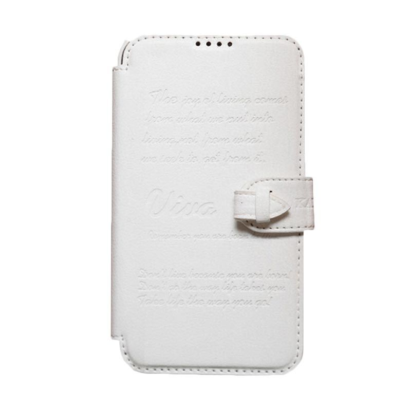 Kalaideng Viva Leather Flip Cover Putih Casing for Samsung Galaxy Note 2