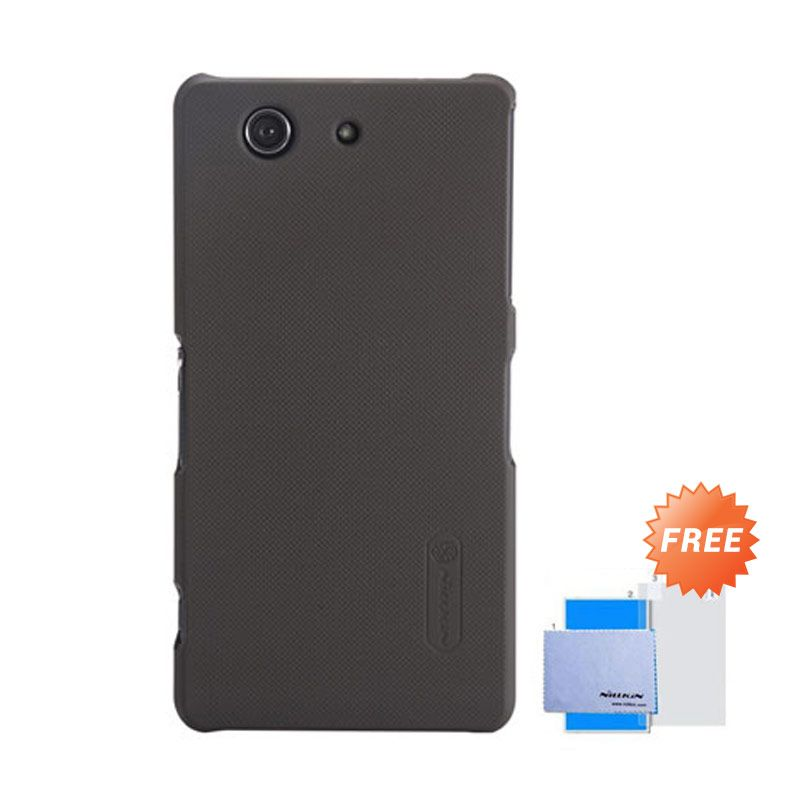 Nillkin Frosted Shield Cokelat Hardcase Casing for Sony Xperia Z3 Compact + Screen Guard
