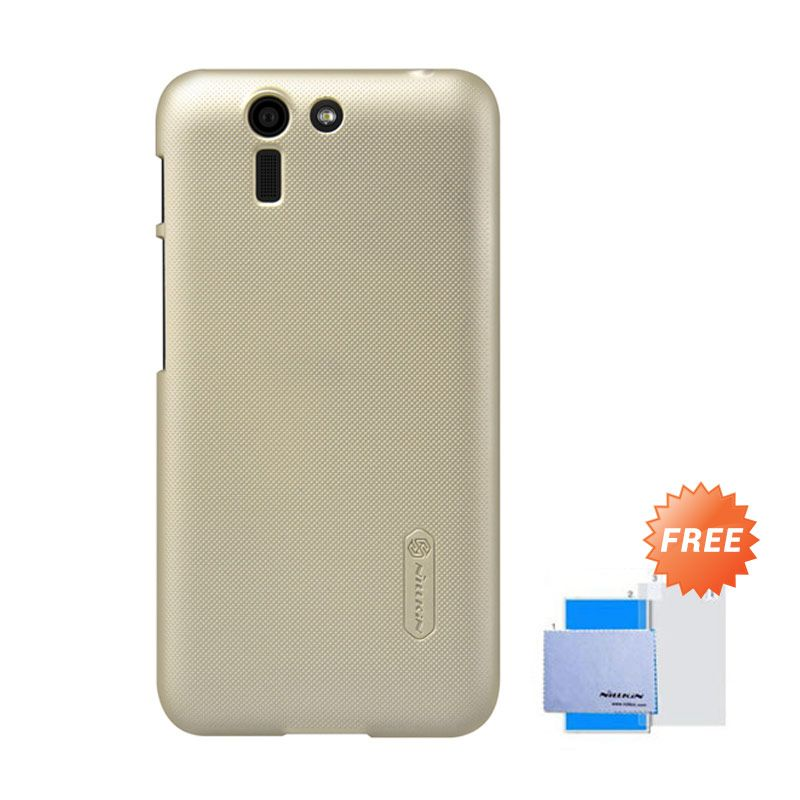 Nillkin Frosted Shield Gold Hardcase Casing for Asus Padfone S PF500KL + Screen Guard
