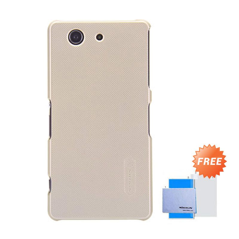 Nillkin Frosted Shield Gold Hardcase Casing for Sony Xperia Z3 Compact + Screen Guard
