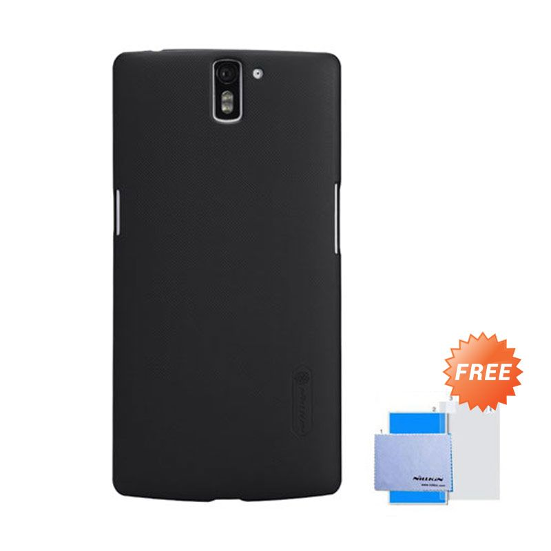 Nillkin Frosted Shield Hitam Hardcase Casing for One Plus One + Screen Guard