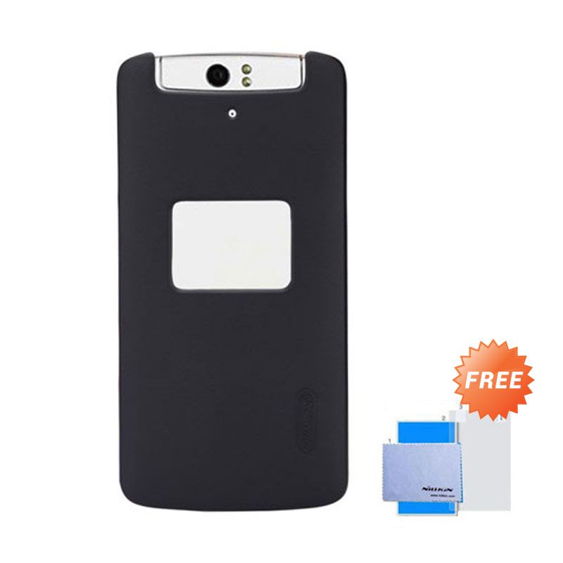 Nillkin Frosted Shield Hitam Hardcase Casing for OPPO N1 + Screen Guard