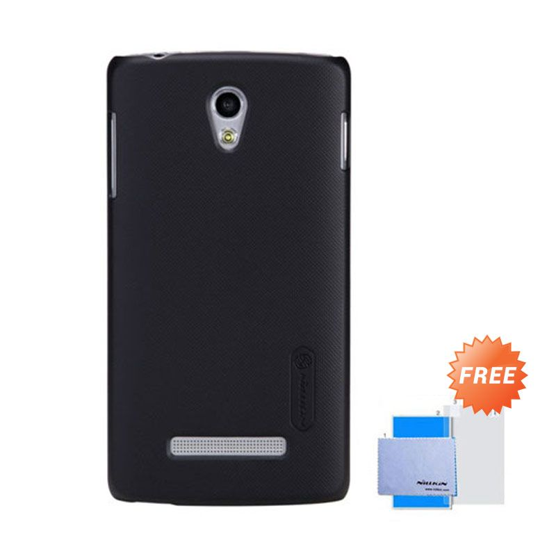 Nillkin Frosted Shield Hitam Hardcase Casing for OPPO R815T + Screen Guard