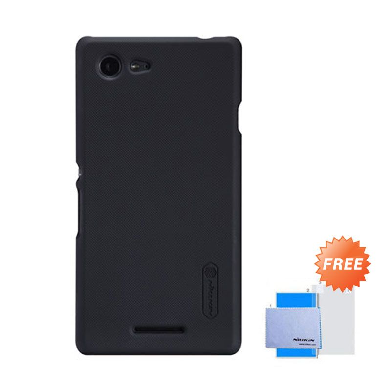 Nillkin Frosted Shield Hitam Hardcase Casing for Sony Xperia E3 + Screen Guard