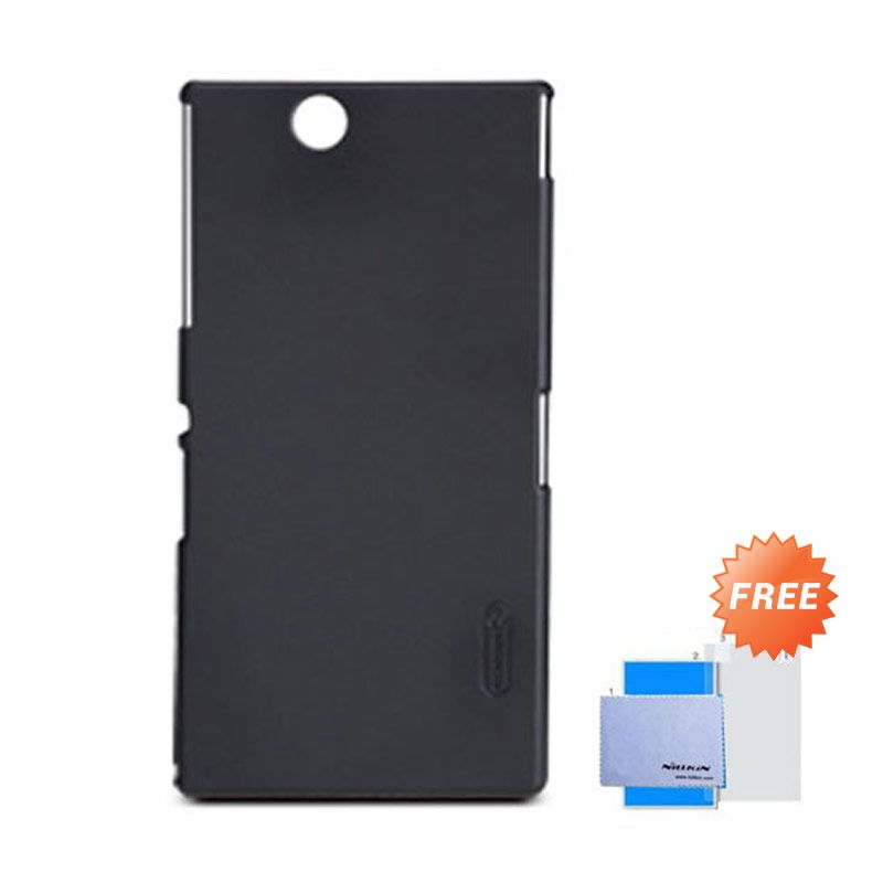 Nillkin Frosted Shield Hitam Hardcase Casing for Sony Xperia Z Ultra XL39h + Screen Guard