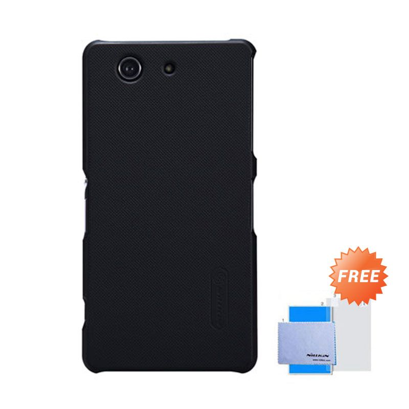 Nillkin Frosted Shield Hitam Hardcase Casing for Sony Xperia Z3 Compact + Screen Guard
