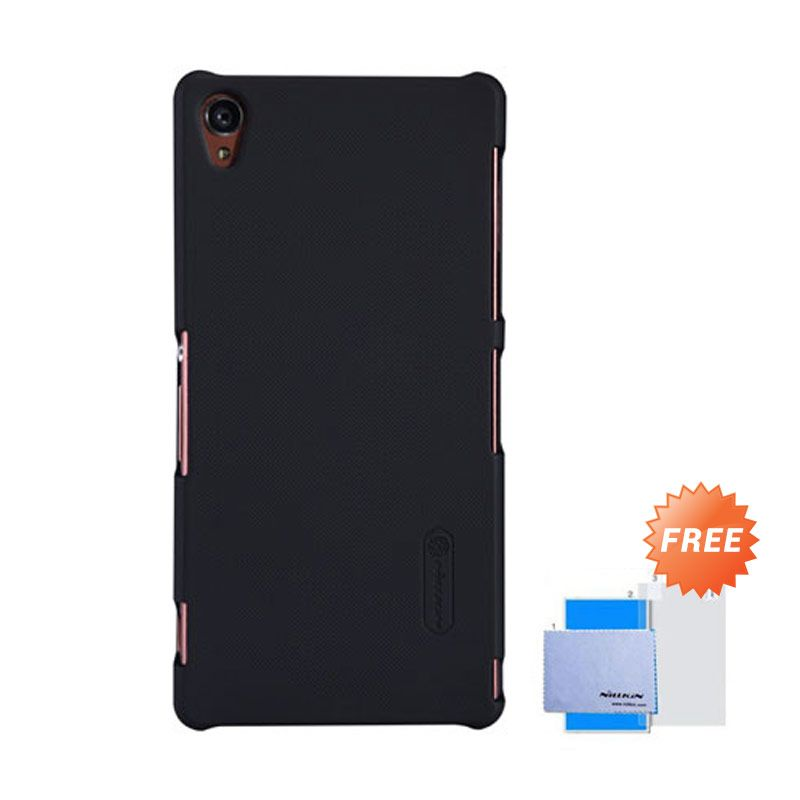 Nillkin Frosted Shield Hitam Hardcase Casing for Sony Xperia Z3 + Screen Guard