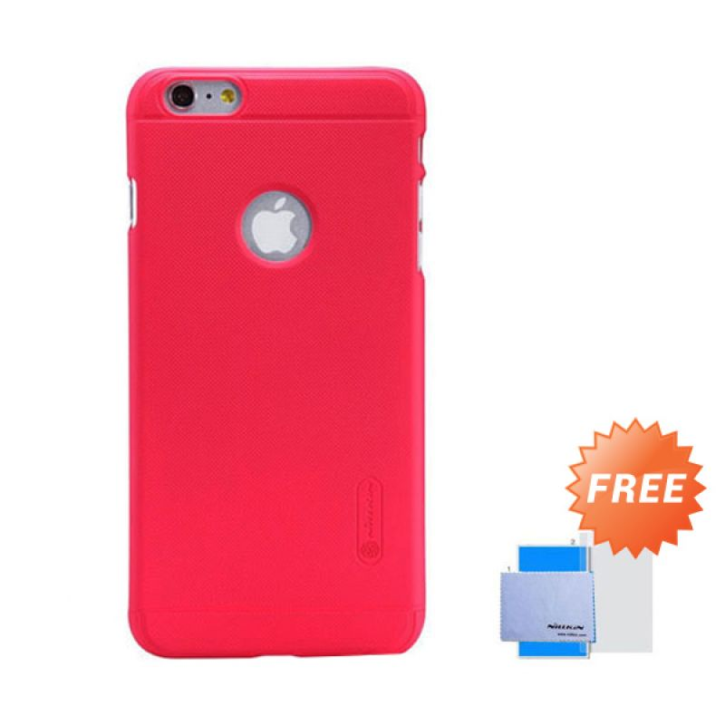 Nillkin Frosted Shield Hard Merah Casing for iPhone 6 Plus [5.5 Inch] + Screen Guard