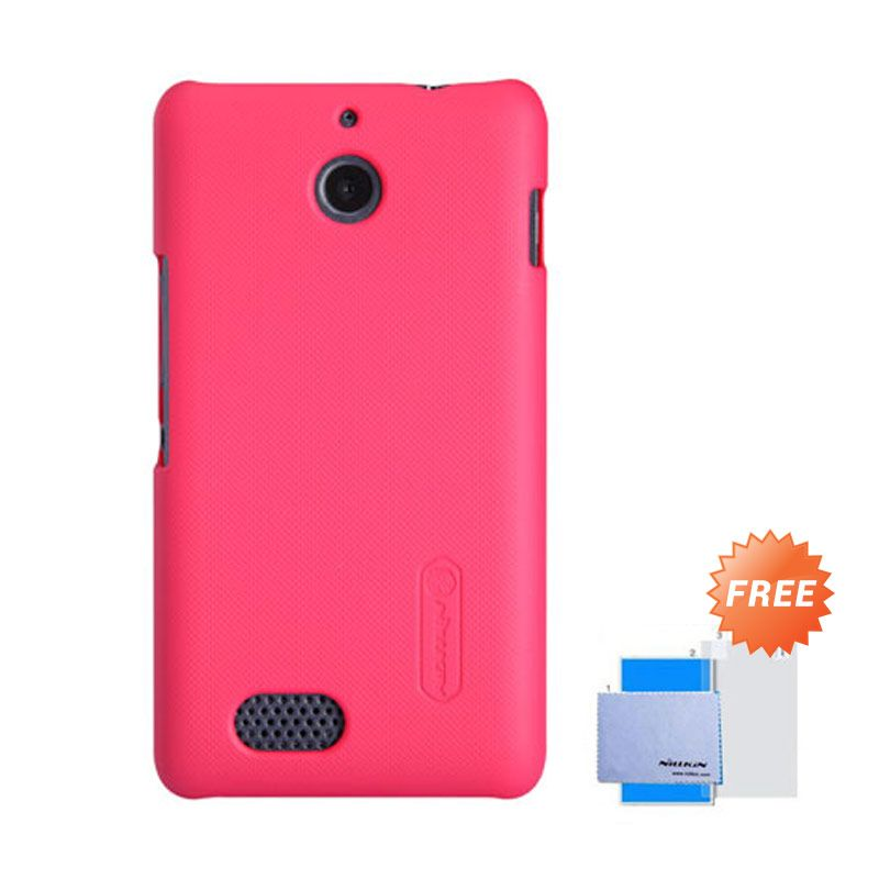 Nillkin Frosted Shield  Merah Hardcase Casing for Sony Xperia E1 + Screen Guard
