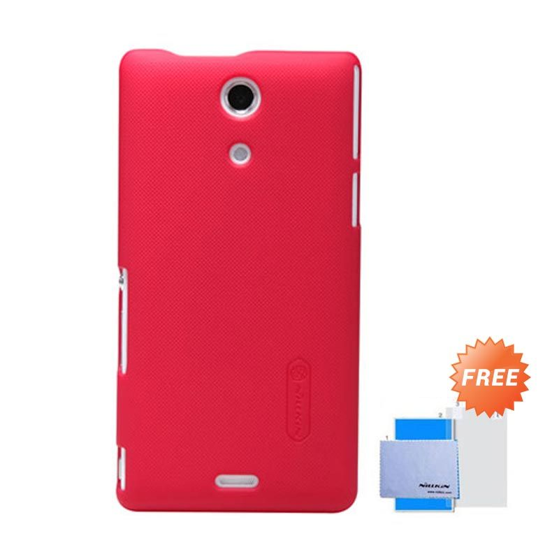 Nillkin Frosted Shield Merah Hardcase Casing for Sony Xperia ZR M36h + Screen Guard