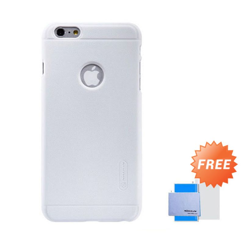 Nillkin Frosted Shield Hard Putih Casing for iPhone 6 Plus [5.5 Inch] + Screen Guard