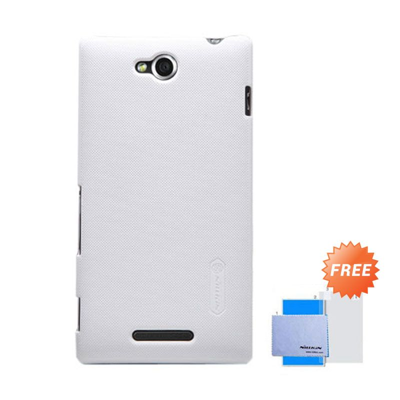 Nillkin Frosted Shield Putih Hardcase Casing for Sony Xperia C + Screen Guard