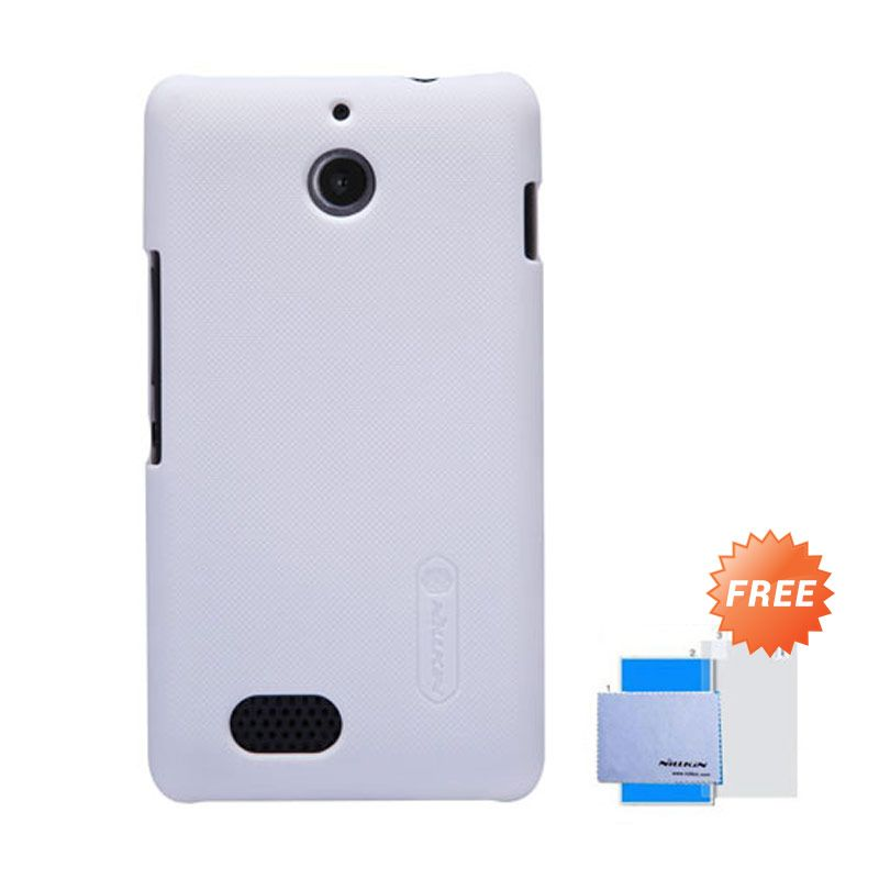 Nillkin Frosted Shield Putih Hardcase Casing for Sony Xperia E1 + Screen Guard