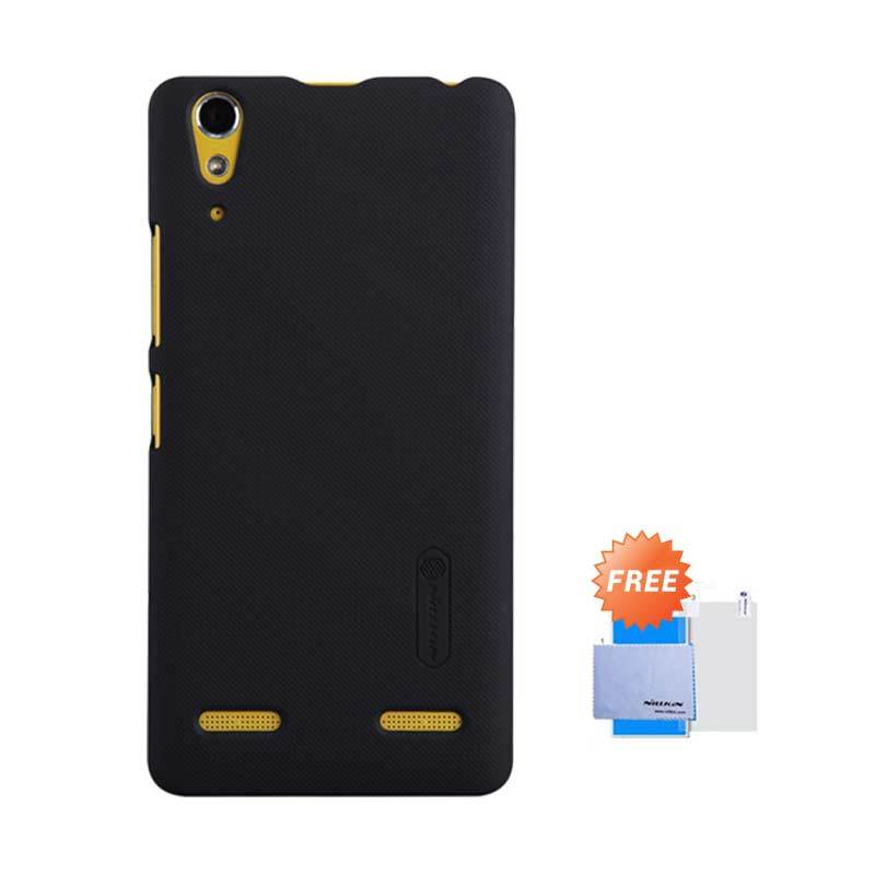 Nillkin Frosted Shield Hardcase Black Casing for Lenovo A6000 or K3 + Screen Guard