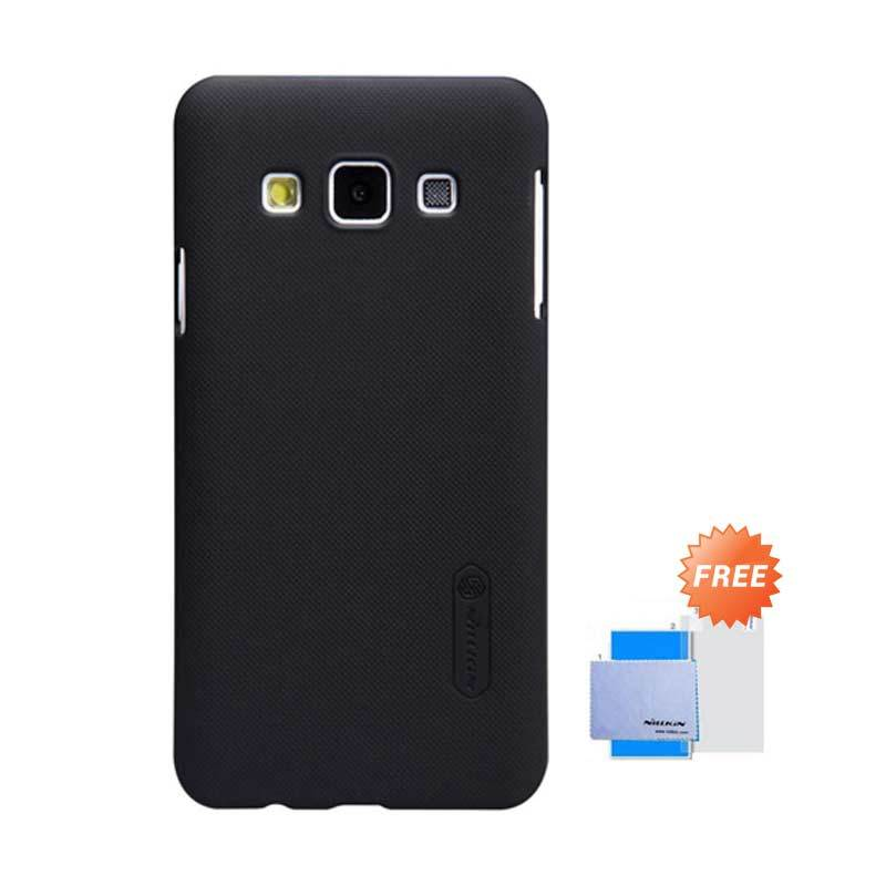 Nillkin Frosted Shield Hitam Hardcase Casing for Samsung Galaxy A3 + Screen Guard