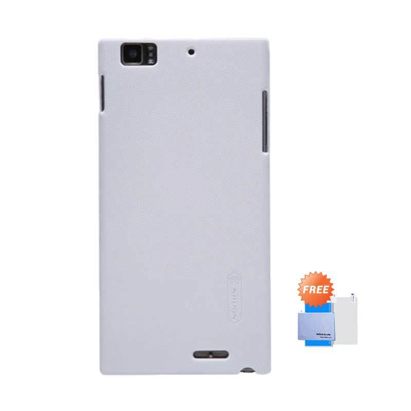 Nillkin Frosted Shield Hardcase White Casing for Lenovo K900 + Screen Guard