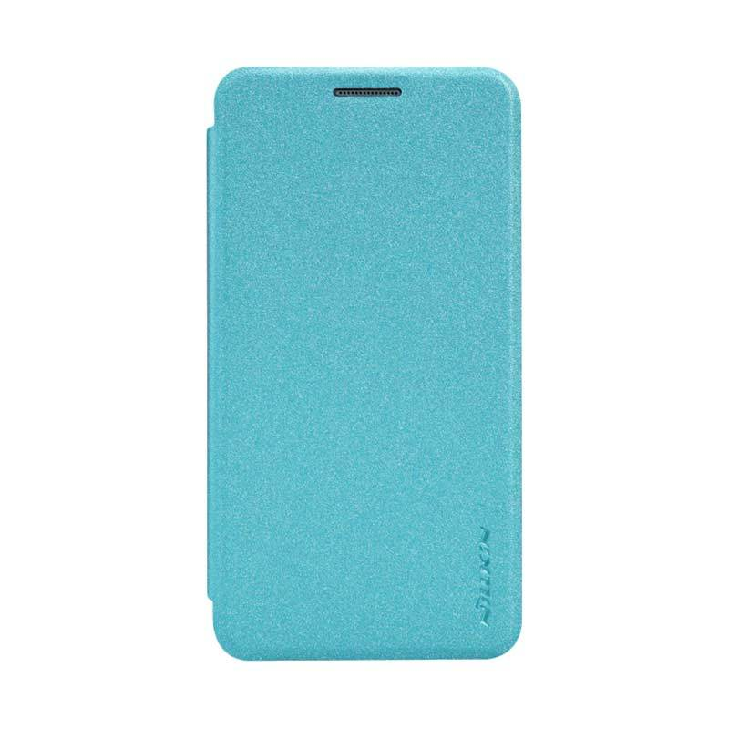 Nillkin Sparkle Leather Biru Flip Cover Casing for Samsung Galaxy A3