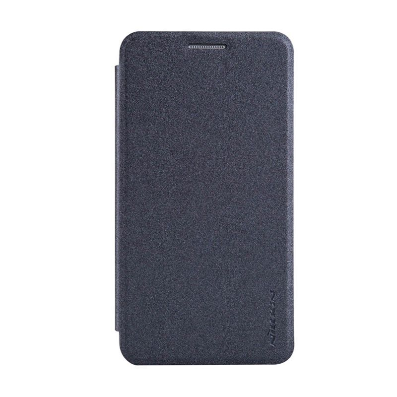 Nillkin Sparkle Leather Hitam Flip Cover Casing for Samsung Galaxy A3
