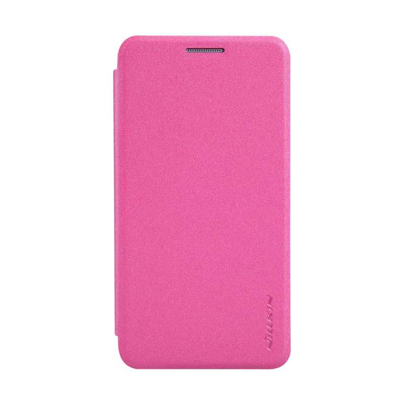 Nillkin Sparkle Leather Pink Flip Cover Casing for Samsung Galaxy A3