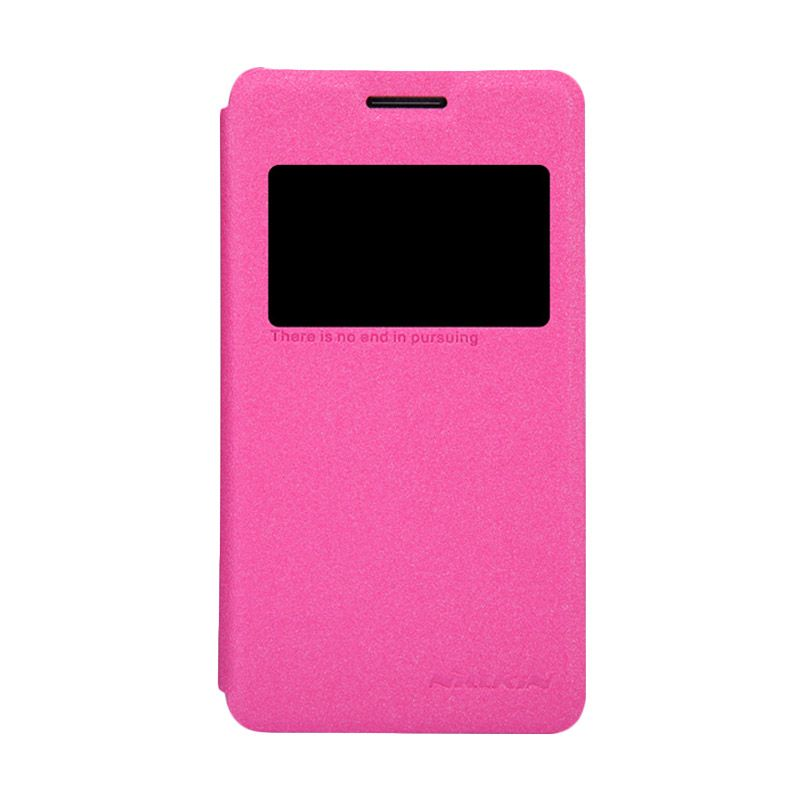Nillkin Sparkle Leather Pink Flip Cover Casing for Sony Xperia E1