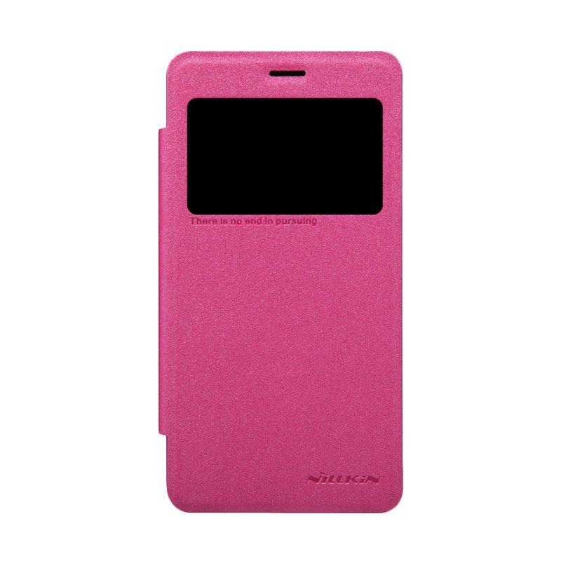 Nillkin Sparkle Leather Pink Flip Cover Casing for Xiaomi Redmi 2