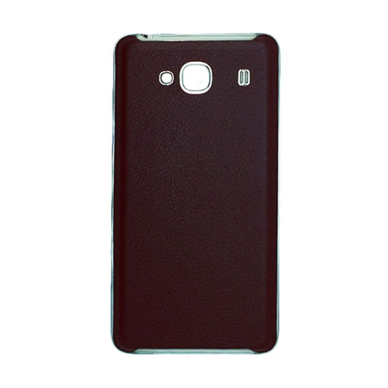 Fashion Back Cover Leather Cokelat Casing for Xiaomi Redmi 2