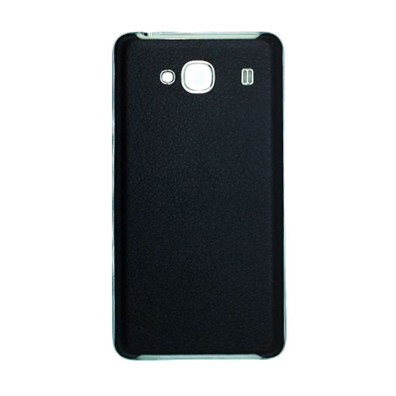 Fashion Back Cover Leather Hitam Casing for Xiaomi Redmi 2