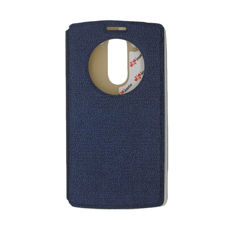 IMO Fresh Leather Flip Case Biru Casing for LG G3 MINI or LG G3 BEAT