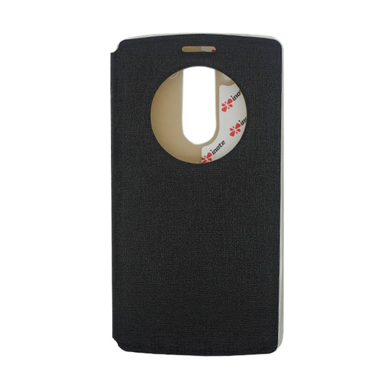 IMO Fresh Leather Flip Case Hitam Casing for LG G3 MINI or LG G3 BEAT