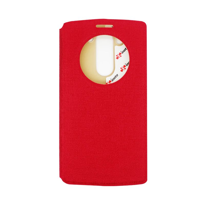 IMO Fresh Leather Flip Case Merah Casing for LG G3 MINI or LG G3 BEAT